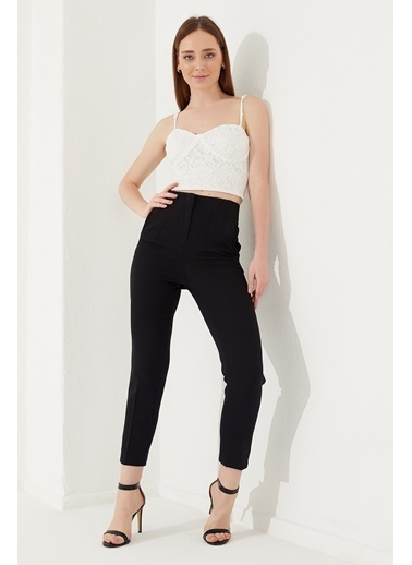 Reyon REYON Kadın Yüksek Bel Kumaş Pantolon Siyah Siyah